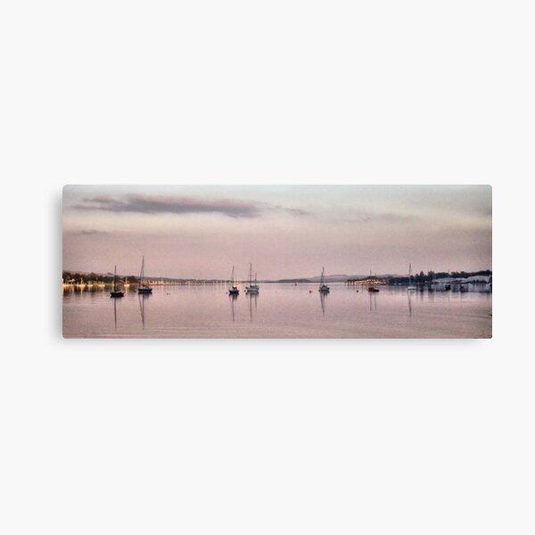 Reflections at Sunset on Rhu Narrows  Canvas Print