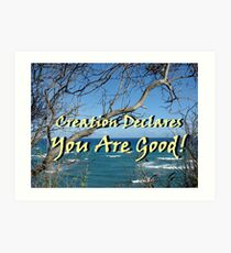 """""""Creation Declares You Are Good"""" by Carter L. Shepard Art Print"""