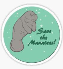 Save The Manatees! Sticker