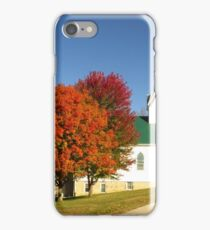 Country Church in Autumn  iPhone Case/Skin