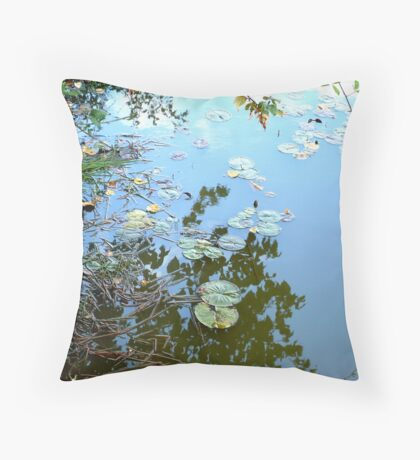 Lilypad Reflections Throw Pillow