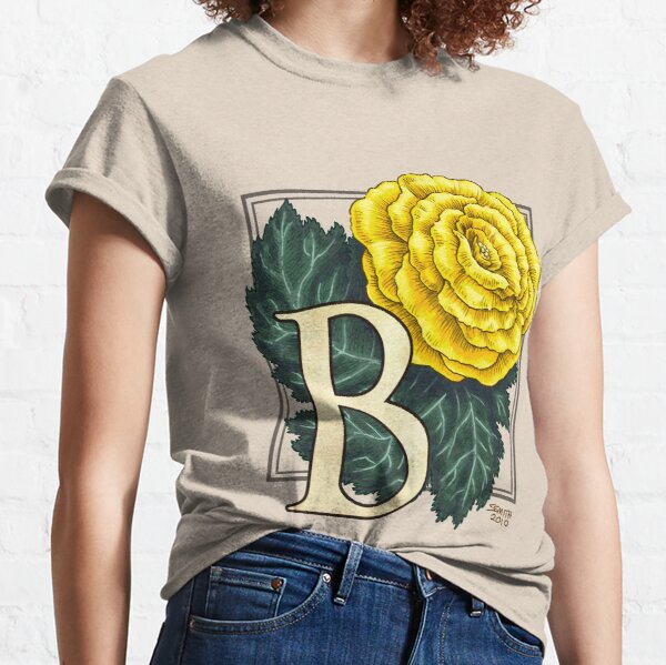 B is for Begonia Flower Monogram Classic T-Shirt