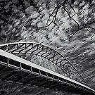 Fremont Bridge One by Dragomir Vukovic