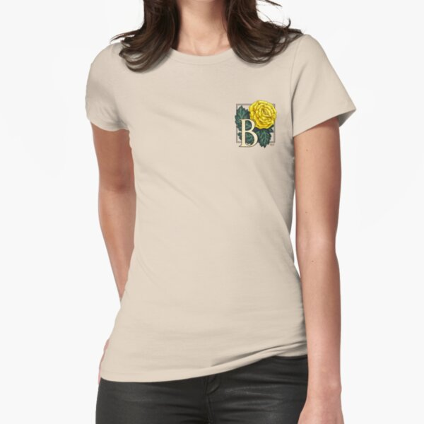 B is for Begonia - patch Fitted T-Shirt