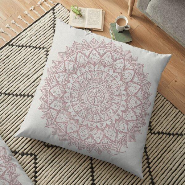 Metallic Pink Mandala Floor Pillow