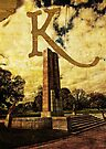 Grungy Melbourne Australia Alphabet Letter K Kings Domain by Beverly Claire Kaiya
