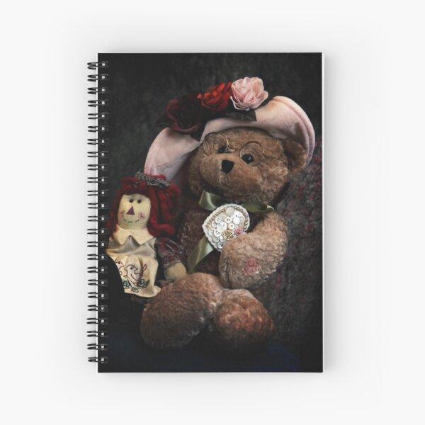 BFFs: Teddy Bear and Raggedy Ann Spiral Notebook