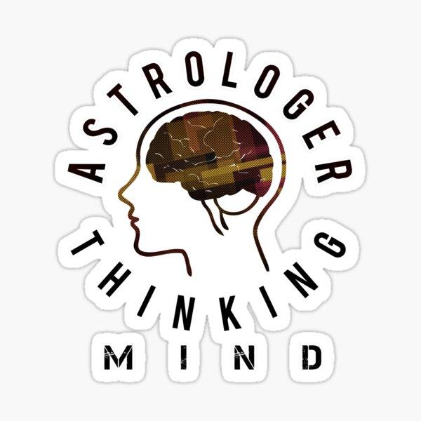 Astrologer Mind Thinking Sticker