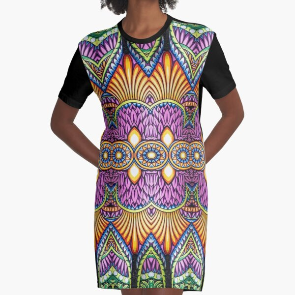 Motif, Visual arts, Psychedelic art Graphic T-Shirt Dress