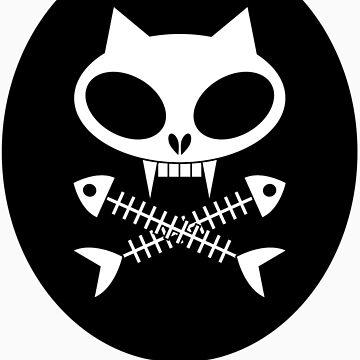 Kitty skull with cross bones 2 by trippitako