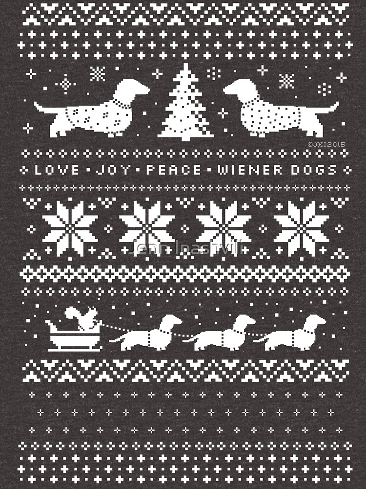 Dachshunds Christmas Sweater Pattern by ShortCoffee