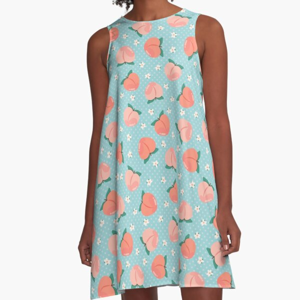 Peachy Keen in Blue A-Line Dress