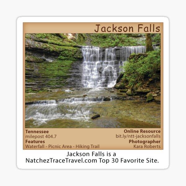 Jackson Falls on the Natchez Trace Parkway. Sticker