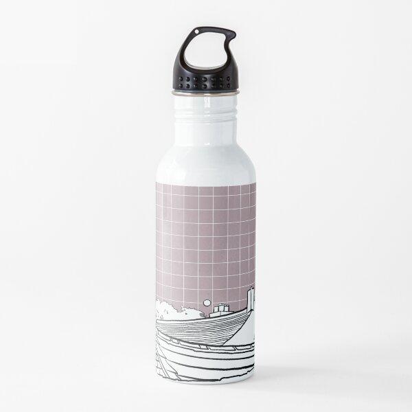 Pink Sky Moon Rise  Water Bottle