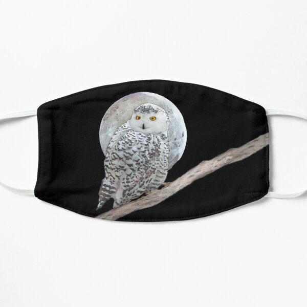 Snowy Owl and Moon Flat Mask