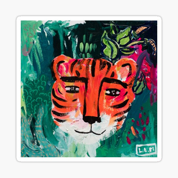 Tiger Face Painting Sticker