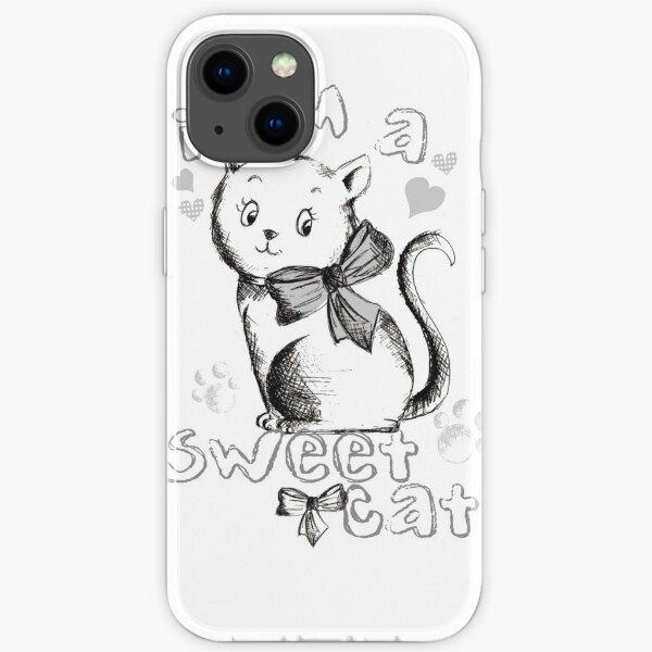 i am a sweet cat  t-shirt iPhone Soft Case