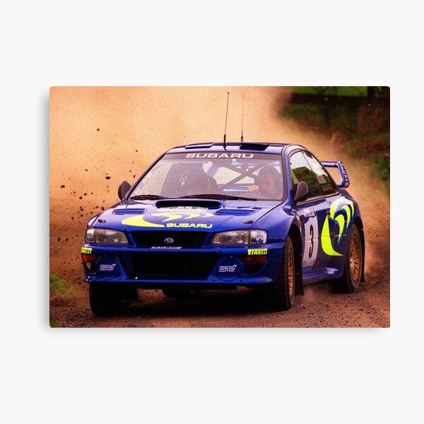 Colin McRae en course dans sa Impreza STI World Rally Car Impression sur toile