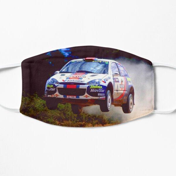 Colin McRae saute dans sa voiture Ford Focus World Rally Masque sans plis
