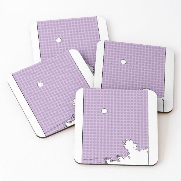 Purple Sky Moon Rise  Coasters (Set of 4)