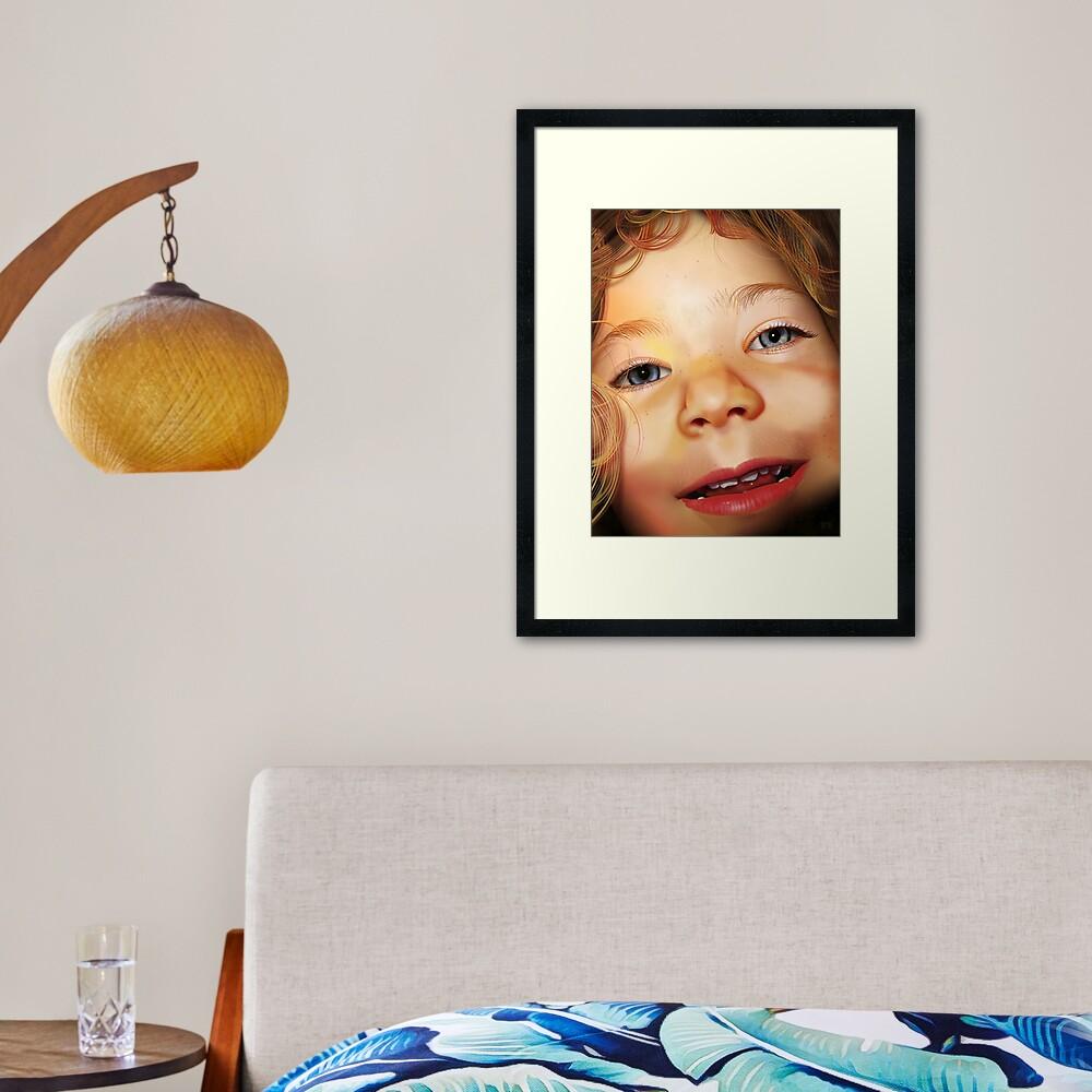 Pure CSS Portrait - Isla Framed Art Print