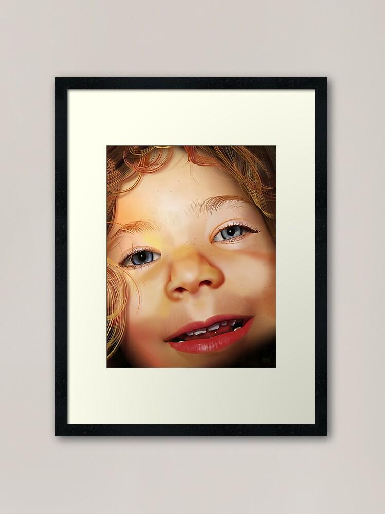 Alternate view of Pure CSS Portrait - Isla Framed Art Print