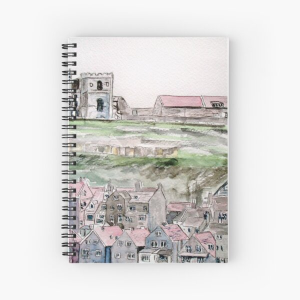 Whitby Town & Abbey Spiral Notebook