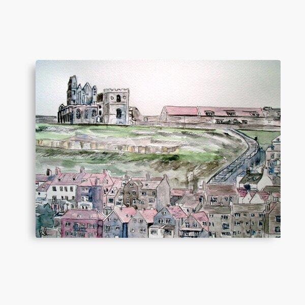 Whitby Town & Abbey Canvas Print