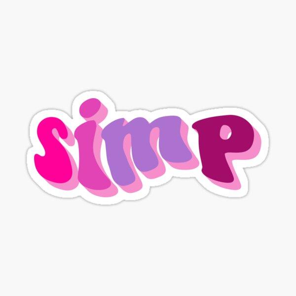 simp Sticker