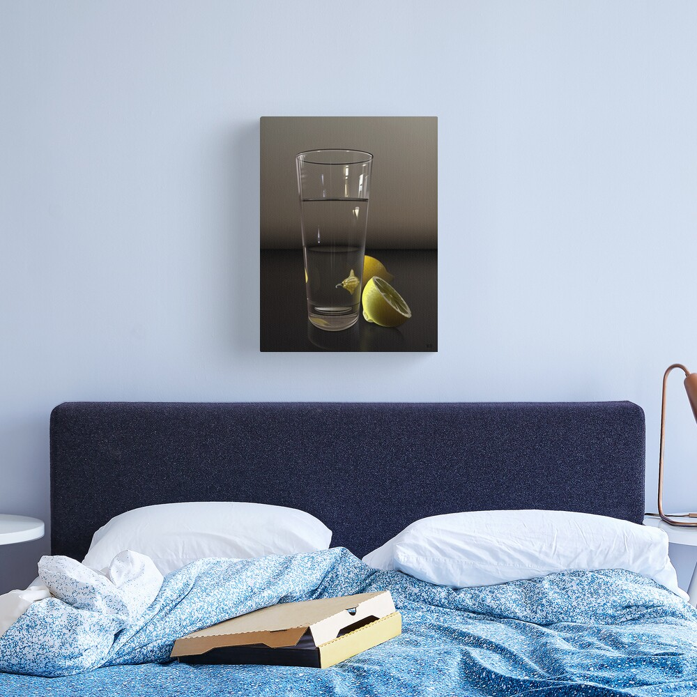 Pure CSS Still Life - Water and Lemons Canvas Print
