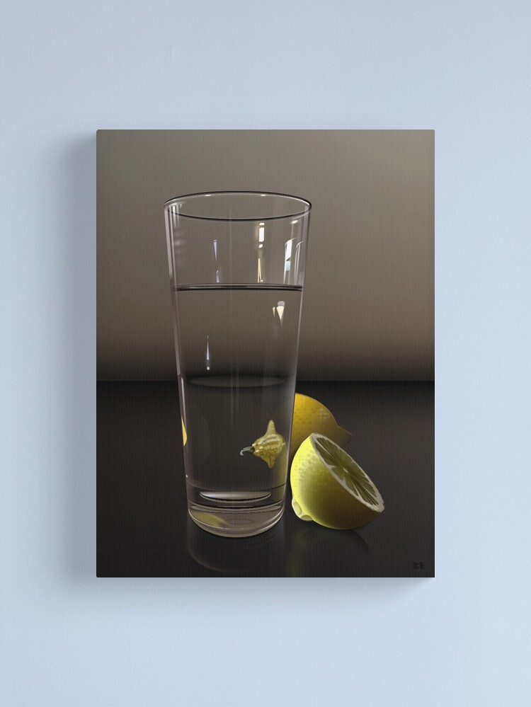 Alternate view of Pure CSS Still Life - Water and Lemons Canvas Print