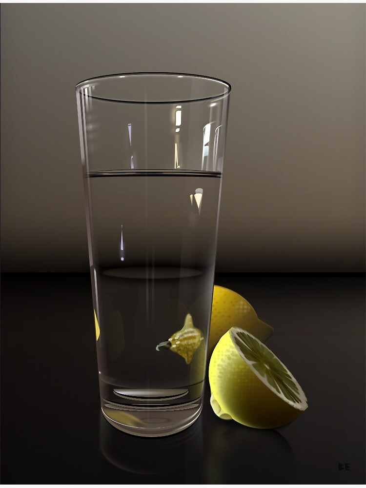 Pure CSS Still Life - Water and Lemons by Ivorjetski