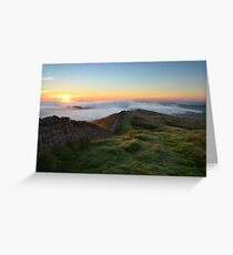 Hadrian's Wall from Winshields Crag - c9 Greeting Card
