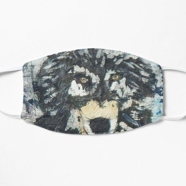 Batik Watercolour Wolf in Snow Mask