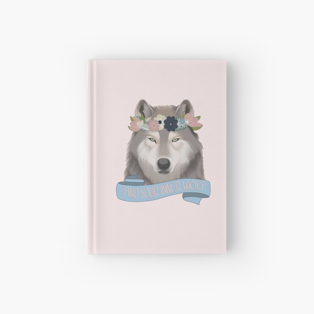 Floral Wolf // Find Your Inner Wolf Hardcover Journal