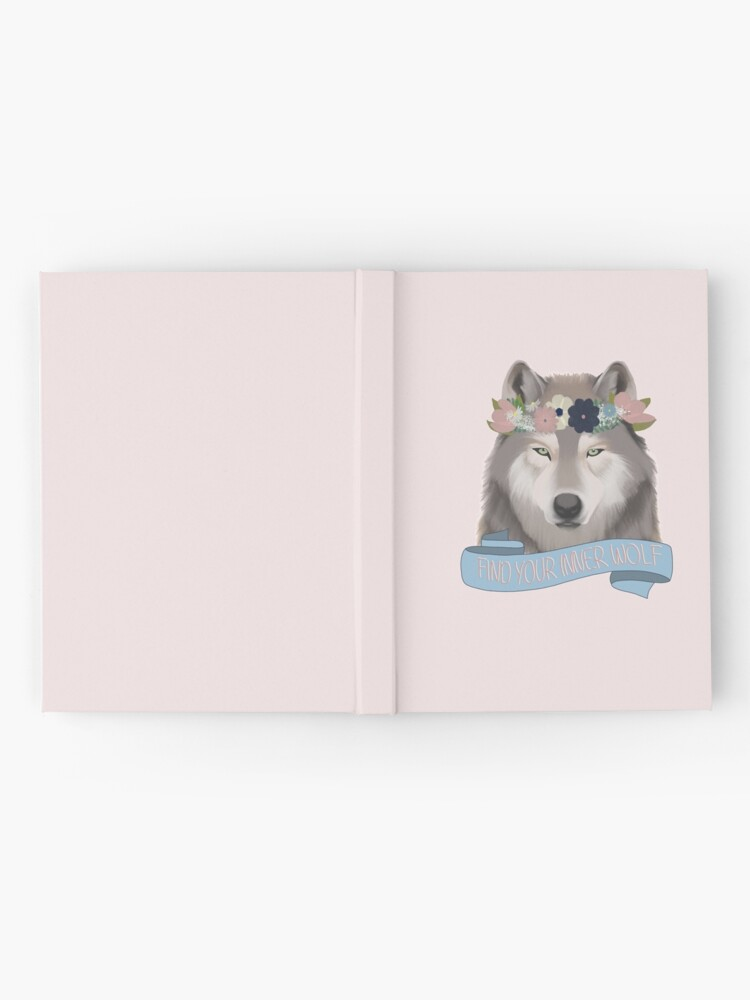 Alternate view of Floral Wolf // Find Your Inner Wolf Hardcover Journal