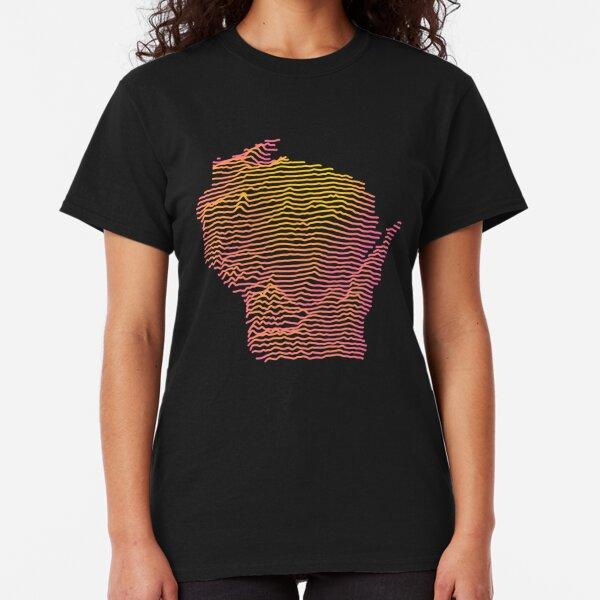 Wisconsin Map Art - Joy Plot Topography Classic T-Shirt