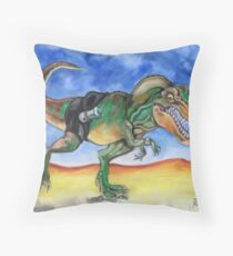 Sportosaurus Throw Pillow