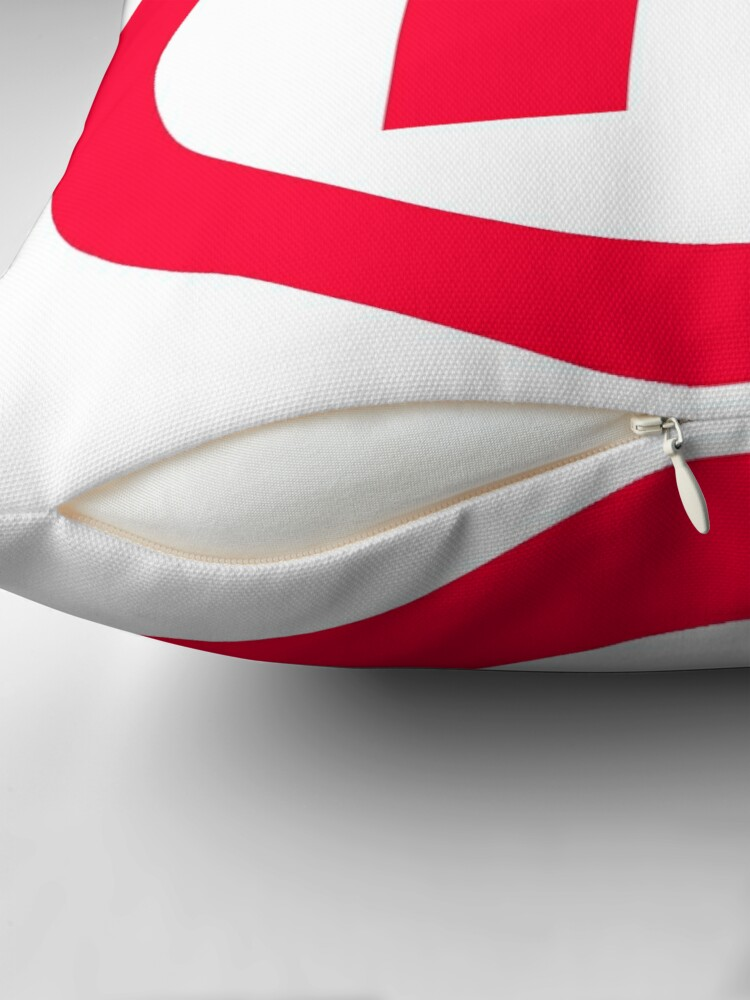 Alternate view of Trademark Red Reserved Throw Pillow