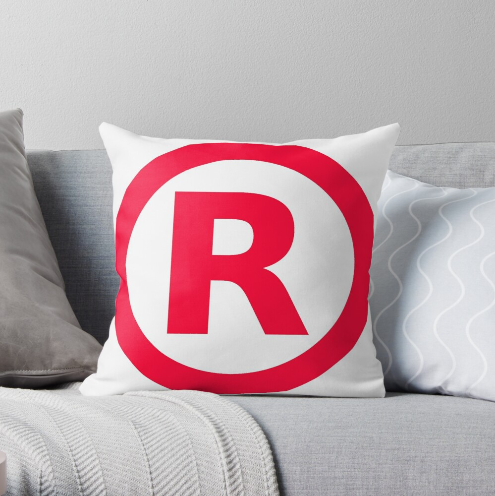 Trademark Red Reserved Throw Pillow