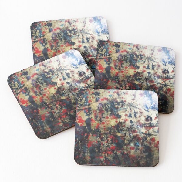 Chinese Ink Art Abstract  Coasters (Set of 4)