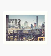7 Train and Silvercup Studios Art Print