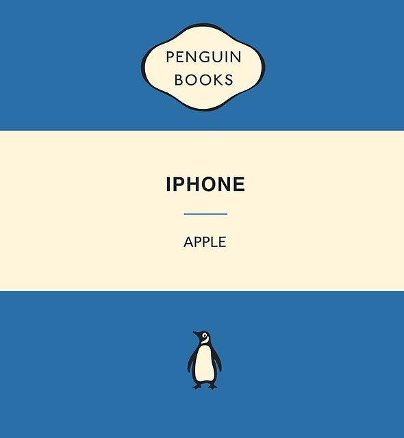 «Funda iPhone Penguin Classic Azul» de Simon Westlake