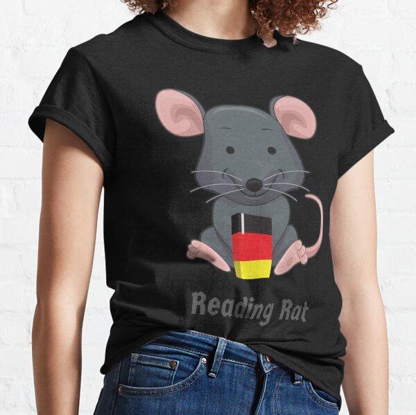 Leseratte Bücherwurm Leseratte Deutsches Buch Wortspiel Classic T-Shirt