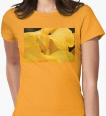 Swirl of Yellow Petals Womens Fitted T-Shirt