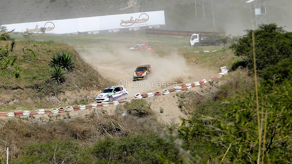 Rally Racing Excitement by Al Bourassa