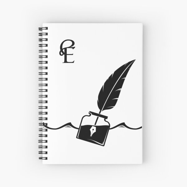 sometimes it's like throwing a bottle in the sea. But a bottle full of ink Spiral Notebook