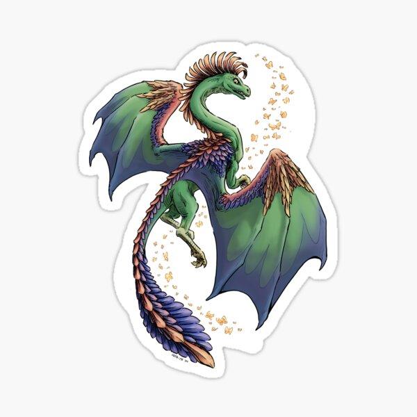 """Dragon of Summer"" floating version  Sticker"
