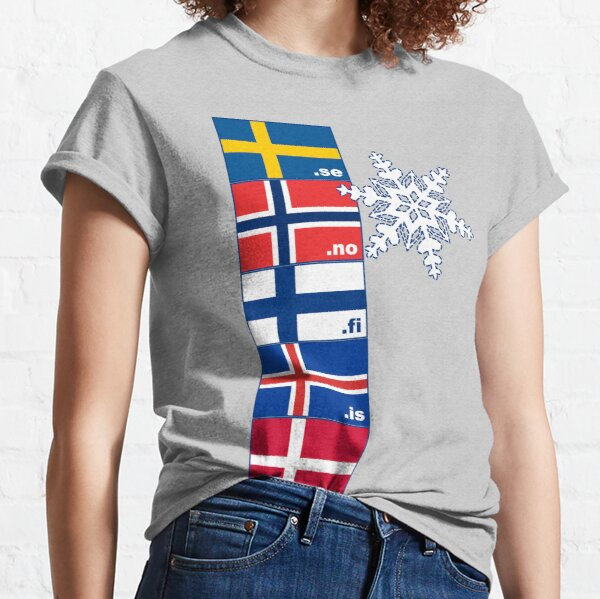 Nordic Cross Flags Classic T-Shirt