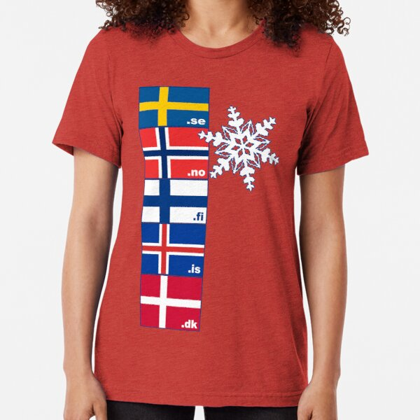 Nordic Cross Flags Vintage T-Shirt